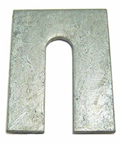 slotted steel shims