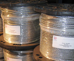 Steel Supply Co. provides wire rope stock sizes and dimensions.