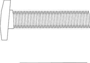 Askew Head Bolt, Wedge Insert, Shelf Angle Insert, Maleable Iron Wedge Insert