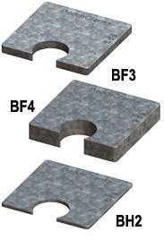 Steel Supply Co. offers Beam Clamp® Packing Pieces for BY Clamps.