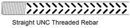 Straight UNC Threaded Rebar
