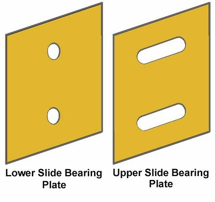 Slide Bearing Lower Upper Plate