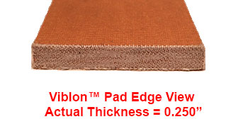 "The Steel Supply Co.'s Viblon Pads with 14""-7"" dimensions."