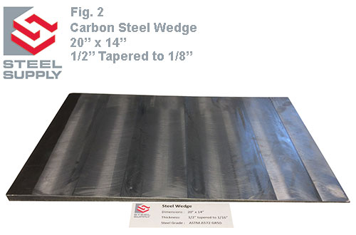 Tapered Steel Wedge