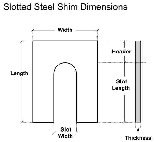 Slotted-Steel-Shim-Dimensions