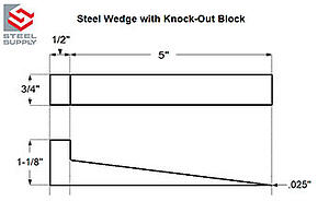 Made to Order Steel Wedge with Knock Out Block