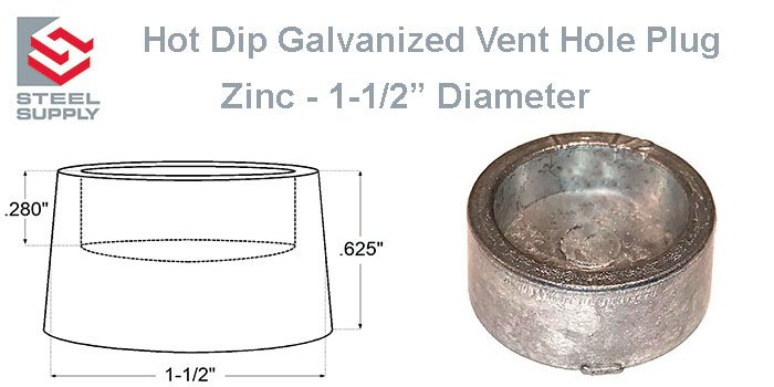 Galvanized Vent Hole Plug
