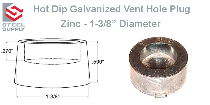 Galvanized Weep Hole Plugs