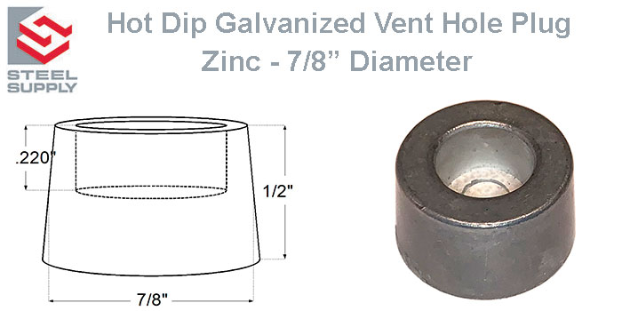 Galvanizing Vent Hole Plug