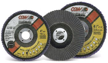 steel supply Co.'s flap discs are constructed from self-sharpening ceramic grain